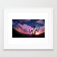 captain silva Framed Art Prints featuring Silva by ADRAWER4EVER