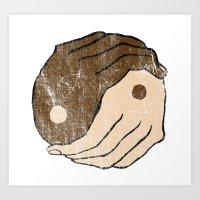 ying yang Art Prints featuring Ying Yang by Bear Bone