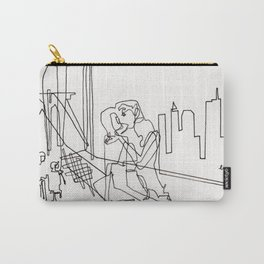 Sloppy Bridge Kiss - LINE DRAWING Carry-All Pouch