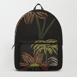 Flowers on blackpaper Backpack