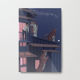 Tiger Playhouse Metal Print