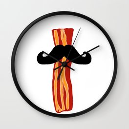 Bacon Stache Wall Clock