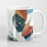 marley Mugs featuring Marley the Boxer Dog Original Portrait Painting by Barking Dog Creations Studio