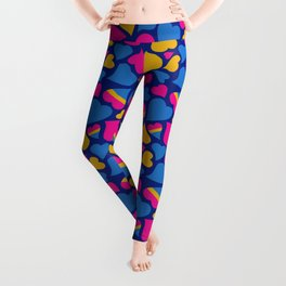 Pan Pride Hearts Pattern Leggings