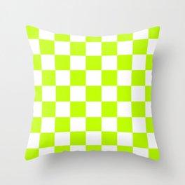Checker (Lime/White) Throw Pillow