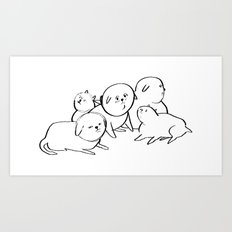 dogs maybe Art Print