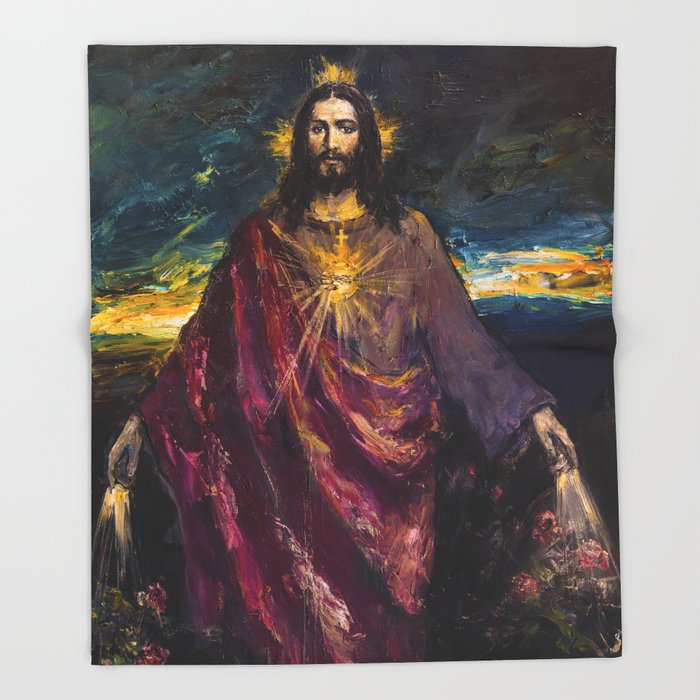 THE LIGHT OF THE WORLD Throw Blanket