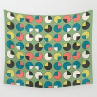 pie Wall Tapestries featuring Pie Green by Kelly Tucker
