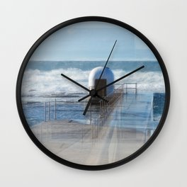 Merewether pool pumphouse, from memory Wall Clock