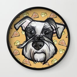 Peter loves pizza and cheese Wall Clock