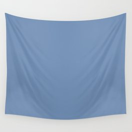 Blue #708EB3 Wall Tapestry