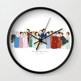 Cast of Jane Austen's Pride and Prejudice Wall Clock