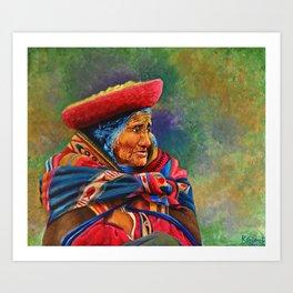Las marcas del Cuzco Art Print