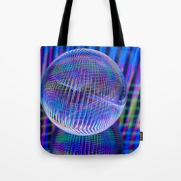 Criss Cross lights in the ball Tote Bag
