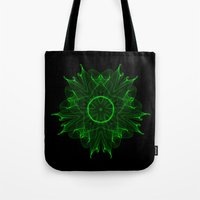 wicked Tote Bags featuring Wicked by Mr. Pattern Man