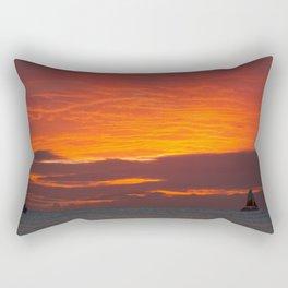 Waikiki - Fire In The Sky Rectangular Pillow