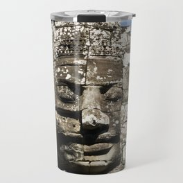 cracked, not broken - angkor wat; buddha Travel Mug