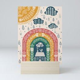 Folk Art Rainbow Mini Art Print