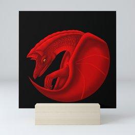 fierce dragon Mini Art Print