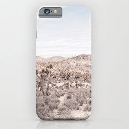 Cactus Landscape // Photograph of Desert Plains Cloudy Sky Tan and Yellow iPhone Case
