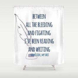 READING AND WRITING | HAMILTON Shower Curtain