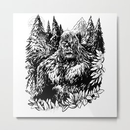 PACIFIC NORTHWEST SASQUATCH Metal Print