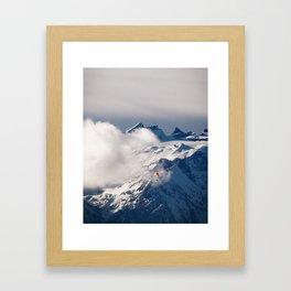 Paraglider in the Alps Framed Art Print