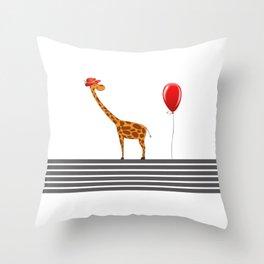 My Girrafe Throw Pillow