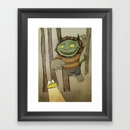 Wild Thing Jumping Framed Art Print