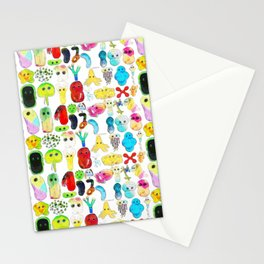 Rainbow Microbes Stationery Cards