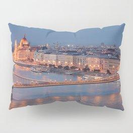 Chain Bridge at Dusk. Budapest. Pillow Sham