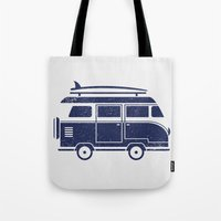 volkswagen Tote Bags featuring Volkswagen by adovemore