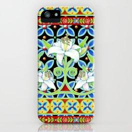 Elizabethan Folkloric Lily iPhone Case