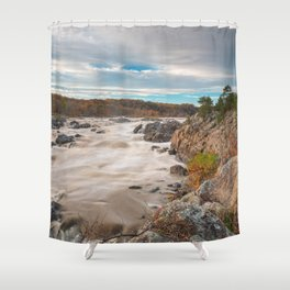 Great Autumn Sky Falls Shower Curtain
