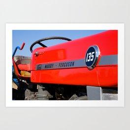 Massey Ferguson 135 vintage tractor Art Print