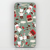 chef iPhone & iPod Skins featuring  Chef pattern by Maria Jose Da Luz