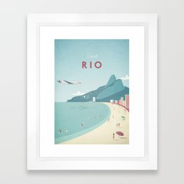 Vintage Rio Travel Poster Framed Art Print