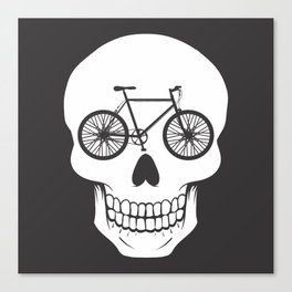 Bikehead Canvas Print