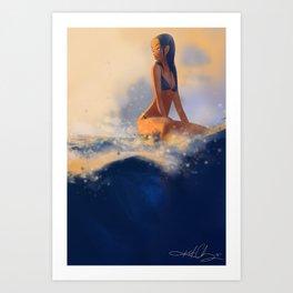 Morning Wave Art Print