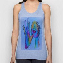 ASL Mother in Blue Overtones Unisex Tank Top