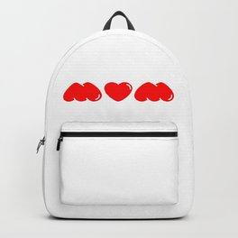 Mum/Mom/Wow (Lipstick Red) Backpack