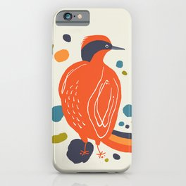 Quirky Helmeted Honeyeater iPhone Case