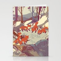 a clockwork orange Stationery Cards featuring Fisher Fox by Teagan White