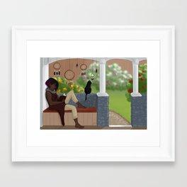 Relaxing day Framed Art Print