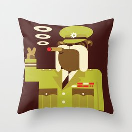 Major Winston Bulldog Throw Pillow