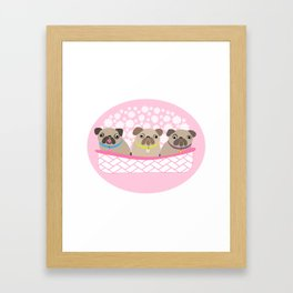 Bouquet of dogs Framed Art Print