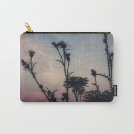 Hazy Thistles Carry-All Pouch
