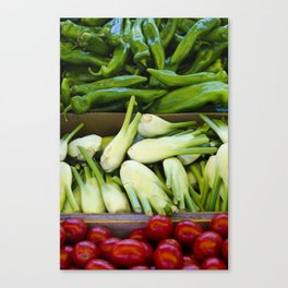 Graphic vegetables Canvas Print