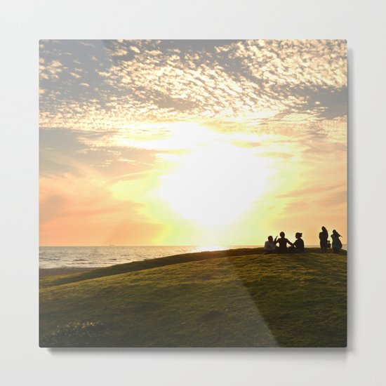 St Kilda Sunset Metal Print