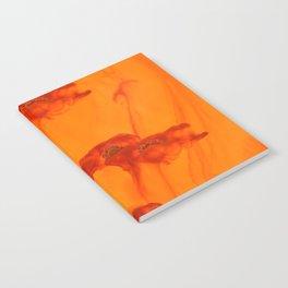 Abstract Red Poppy Flowers Orange Background #decor #society6 #buyart Notebook